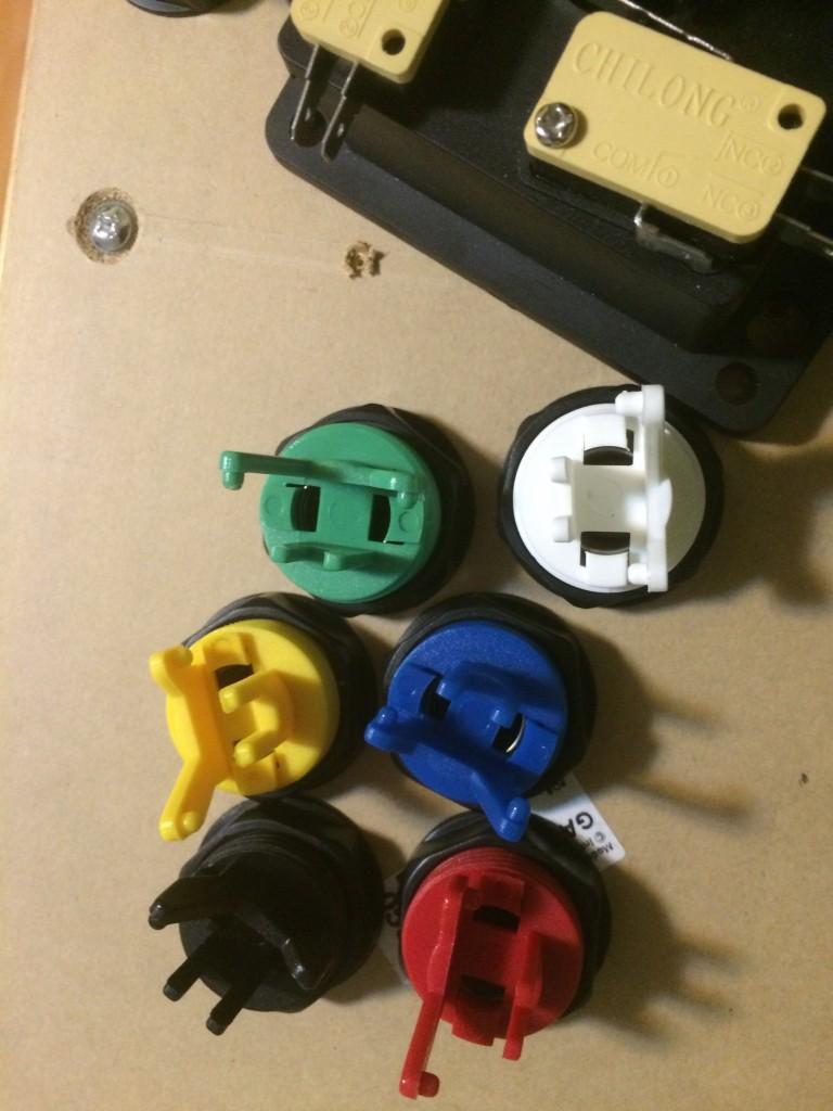 Detalle de la colocación de los botones y los mandos