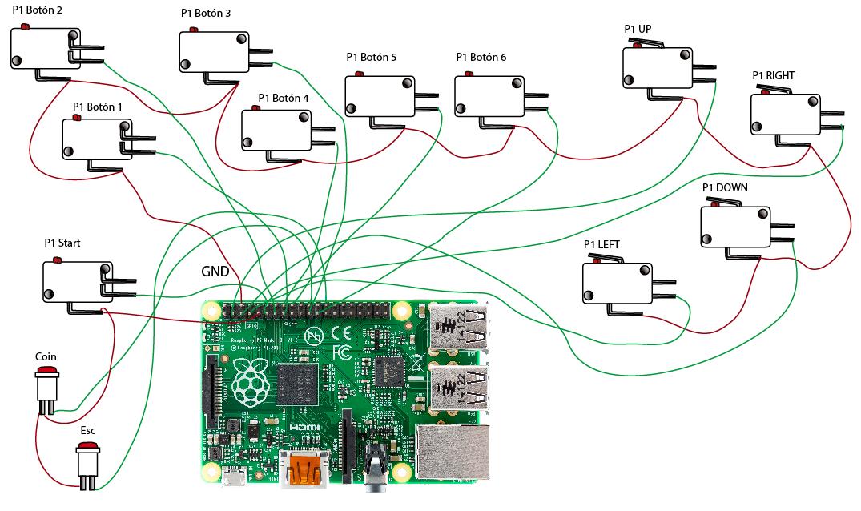Conectar Botones Arcade A Raspberry Pi 3 Of Raspberry Pi B D Nde Est Rafolas